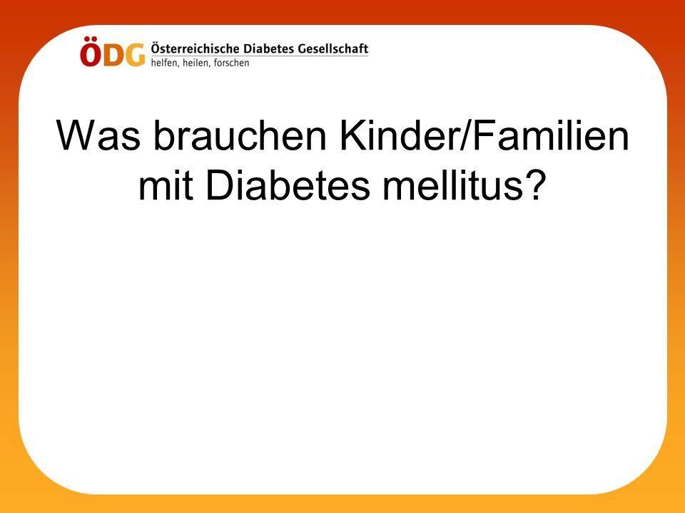 Was brauchen Kinder/Familien mit Diabetes mellitus