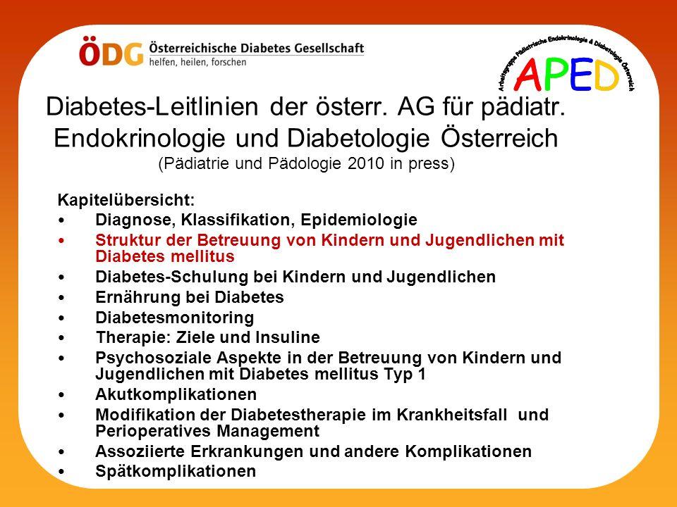 Diabetes-Leitlinien der österr. AG für pädiatr