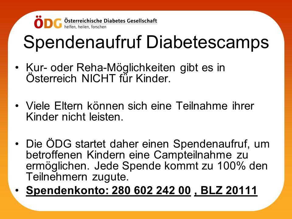 Spendenaufruf Diabetescamps