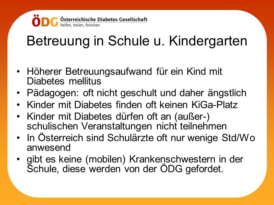 Betreuung in Schule u. Kindergarten