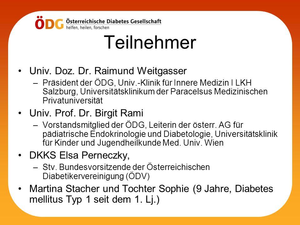 Teilnehmer Univ. Doz. Dr. Raimund Weitgasser