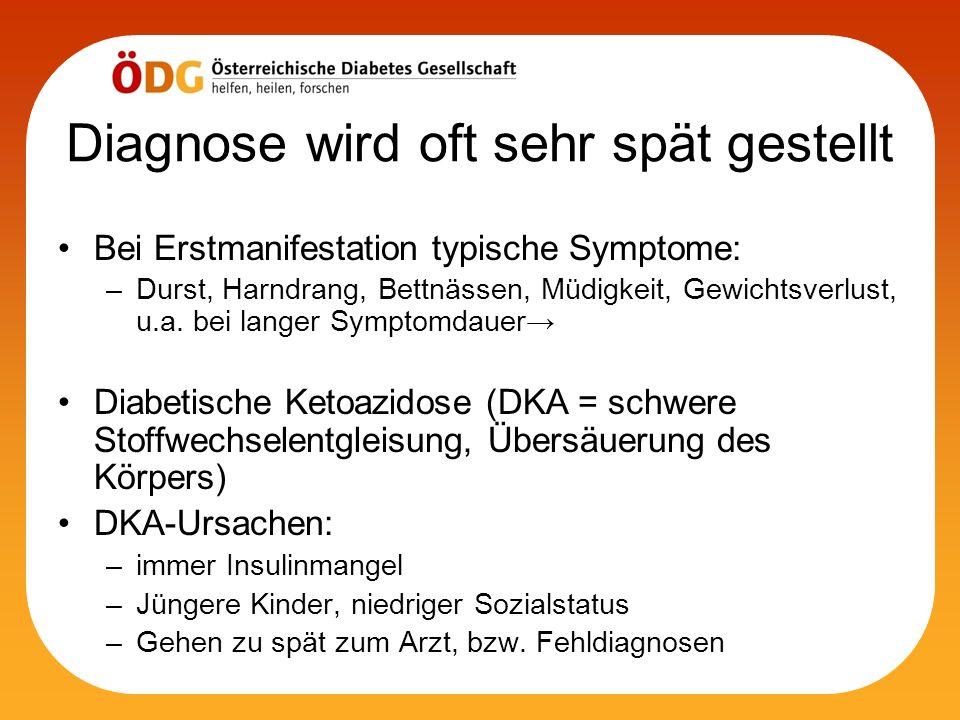 Diagnose wird oft sehr spät gestellt