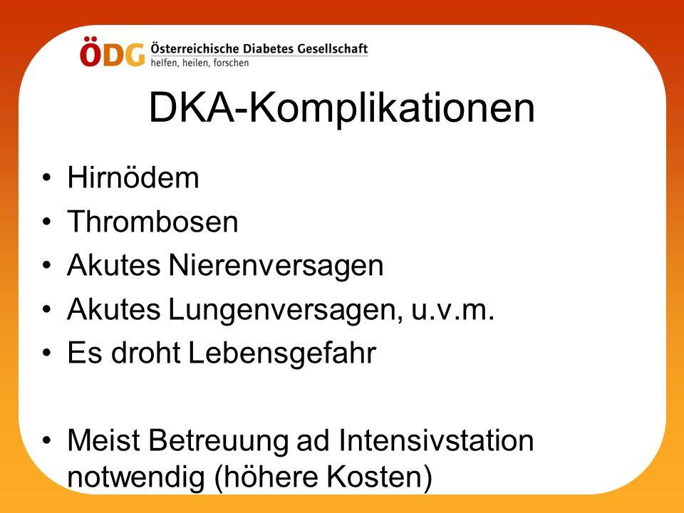 DKA-Komplikationen Hirnödem Thrombosen Akutes Nierenversagen