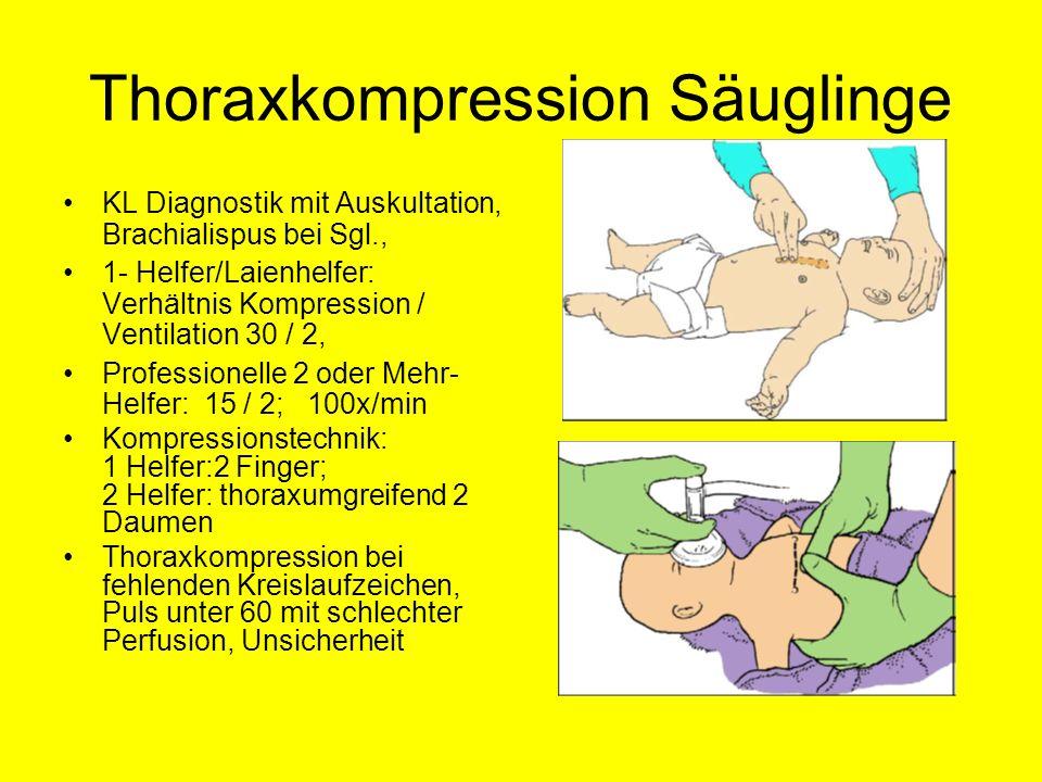 Thoraxkompression Säuglinge