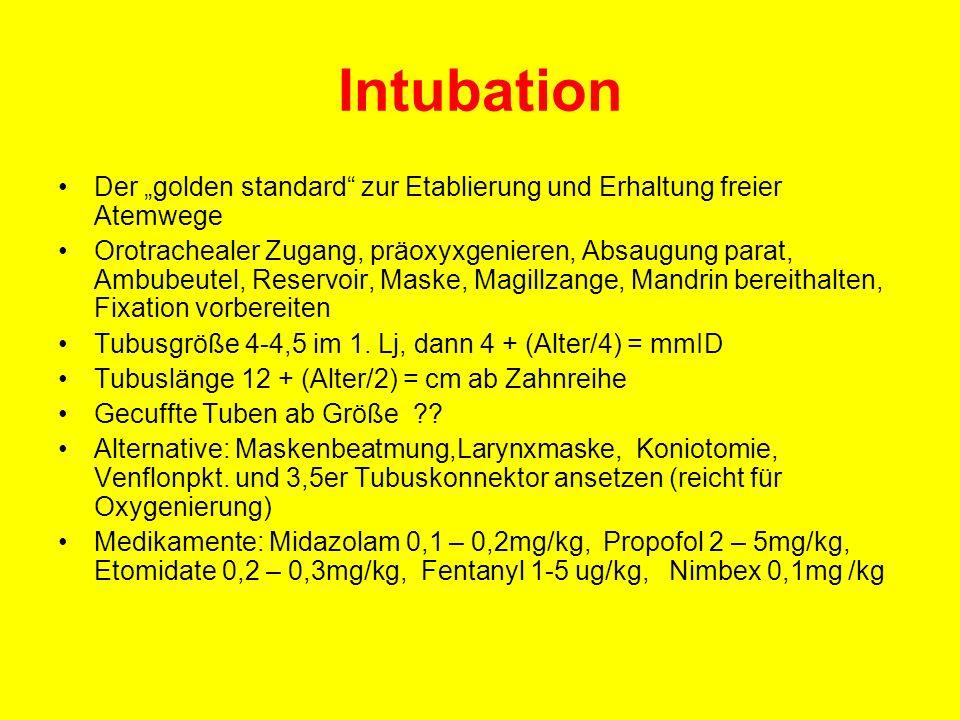 """Intubation Der """"golden standard zur Etablierung und Erhaltung freier Atemwege."""