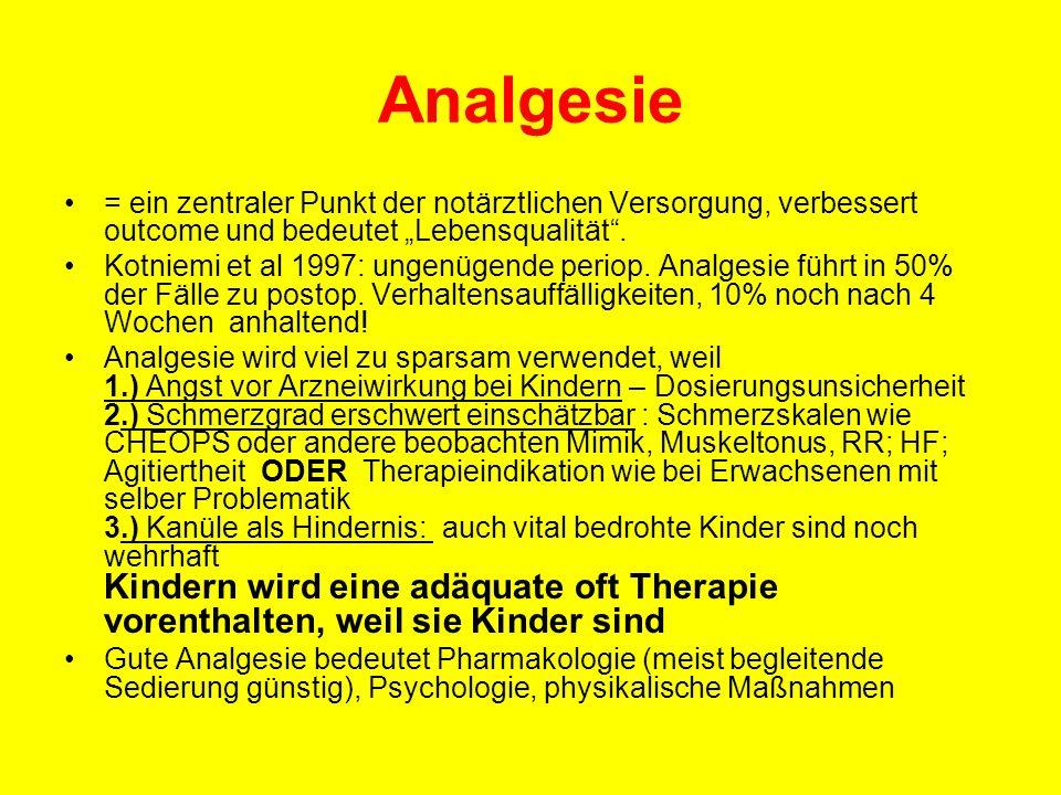 """Analgesie = ein zentraler Punkt der notärztlichen Versorgung, verbessert outcome und bedeutet """"Lebensqualität ."""