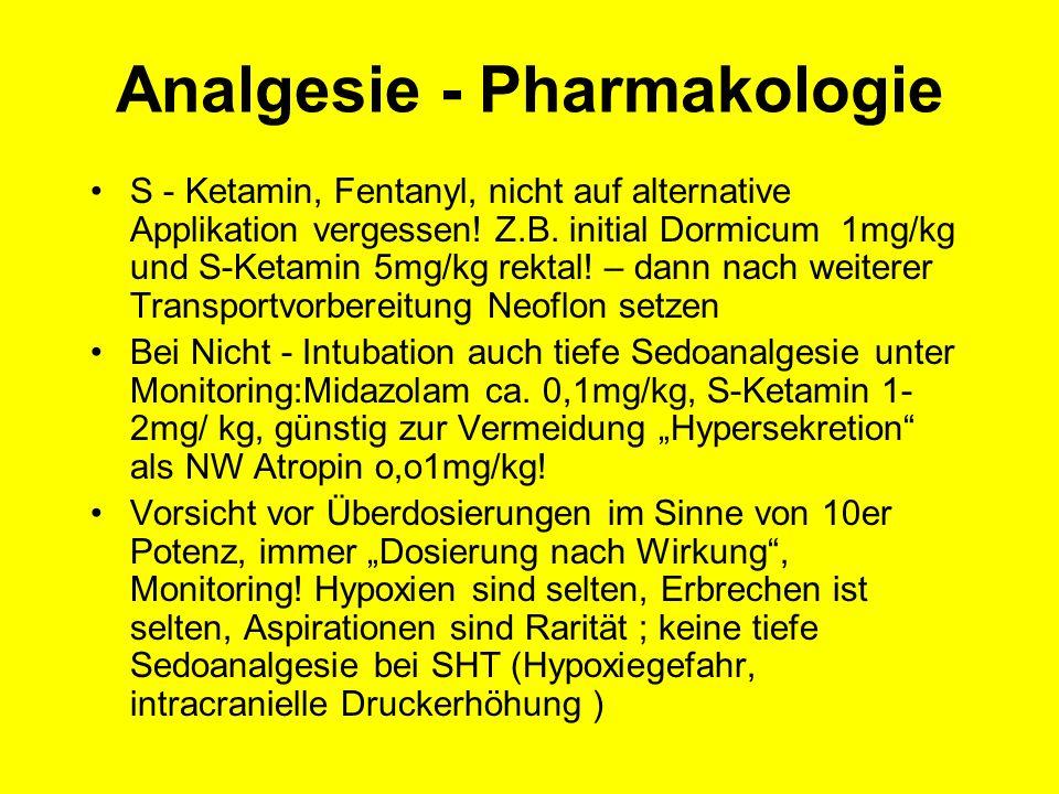 Analgesie - Pharmakologie