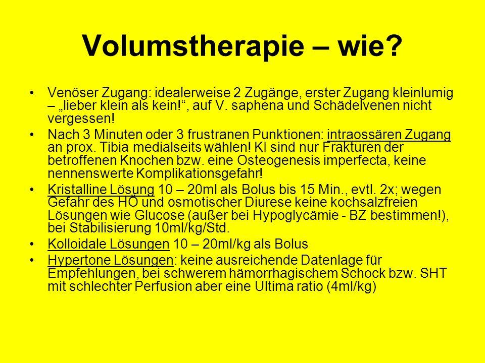 Volumstherapie – wie