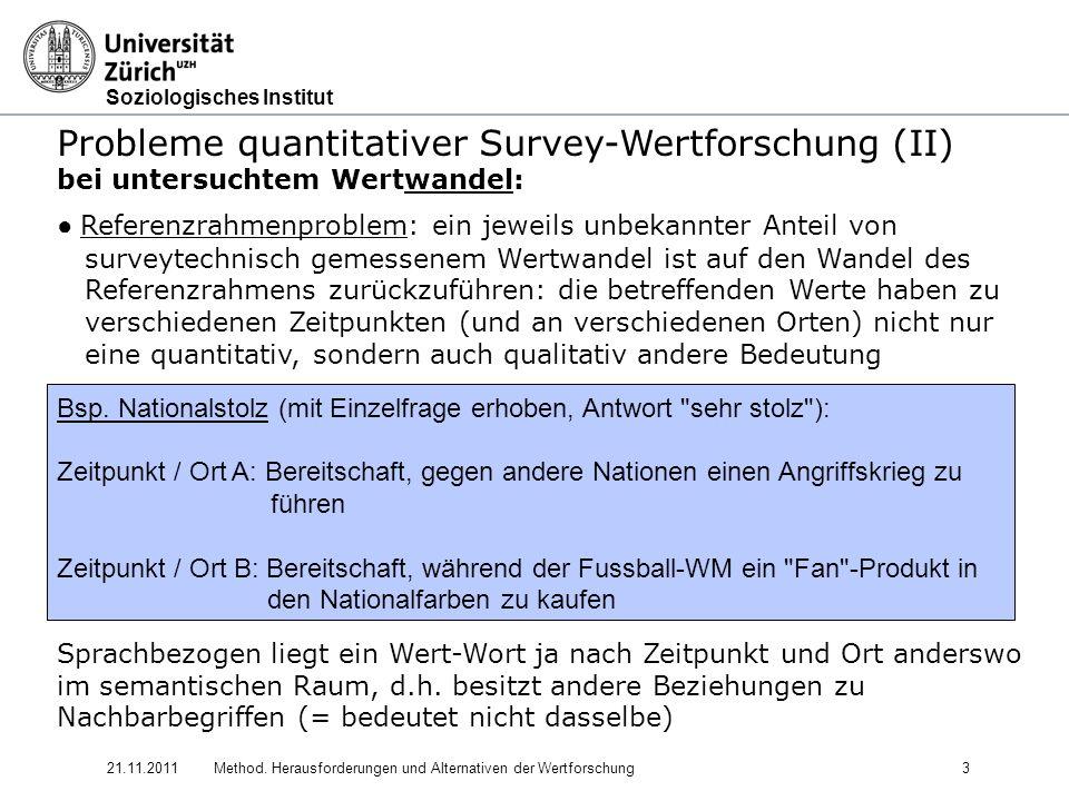 Probleme quantitativer Survey-Wertforschung (II)