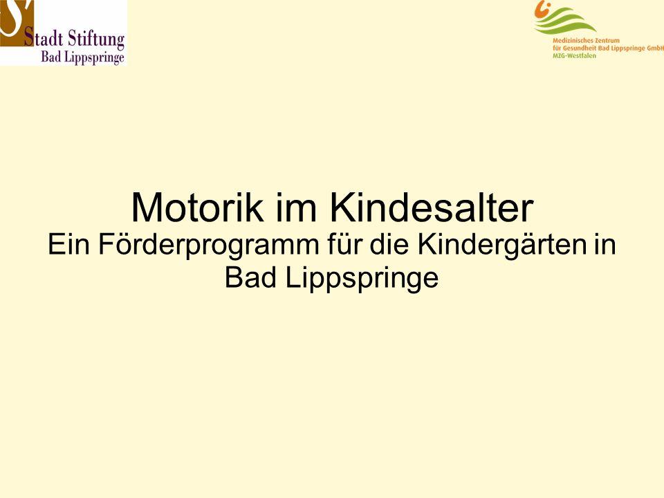 Motorik im Kindesalter