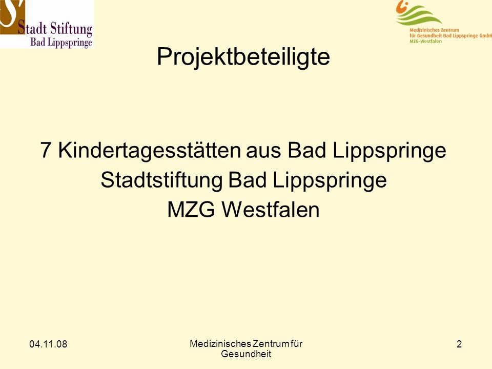 Projektbeteiligte 7 Kindertagesstätten aus Bad Lippspringe