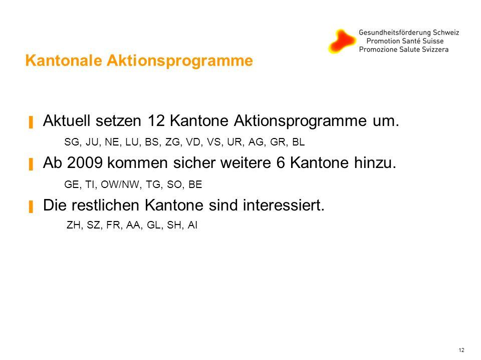 Kantonale Aktionsprogramme