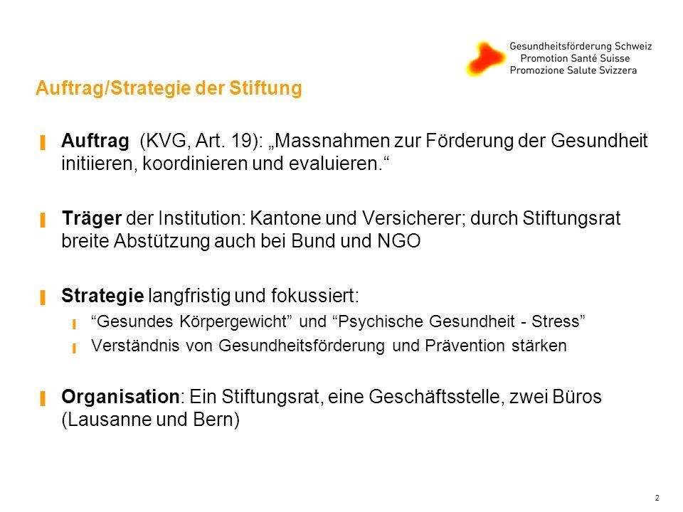 Auftrag/Strategie der Stiftung