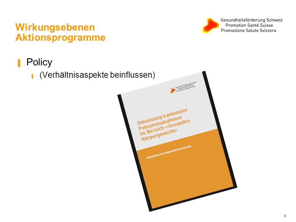 Wirkungsebenen Aktionsprogramme