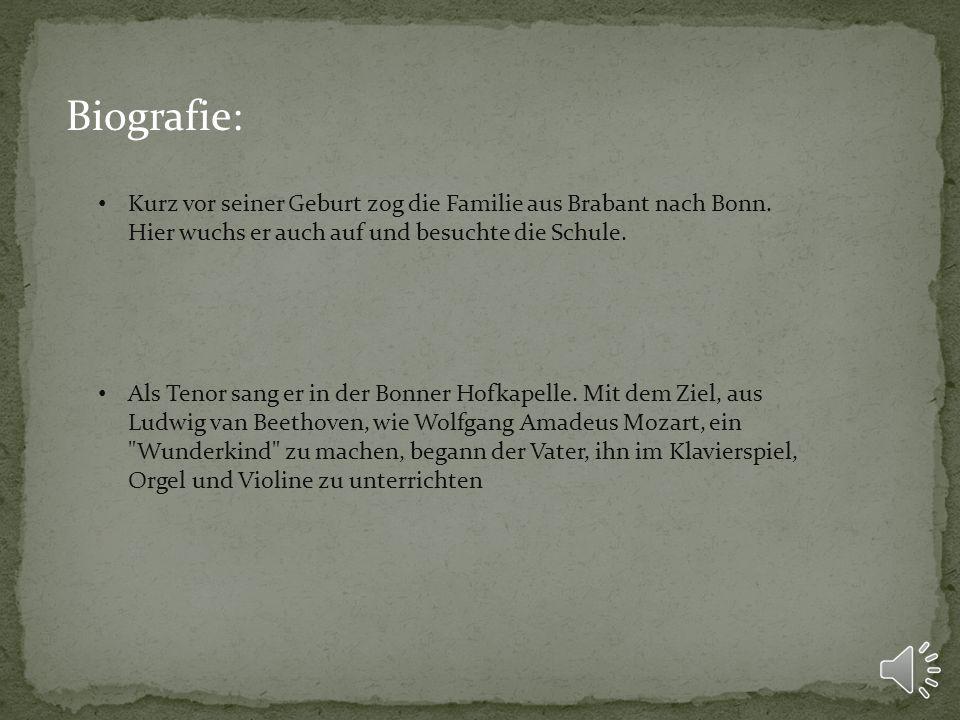 Biografie: Kurz vor seiner Geburt zog die Familie aus Brabant nach Bonn. Hier wuchs er auch auf und besuchte die Schule.