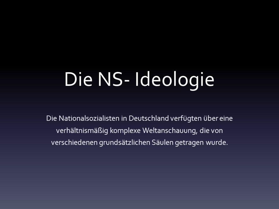 Die NS- Ideologie