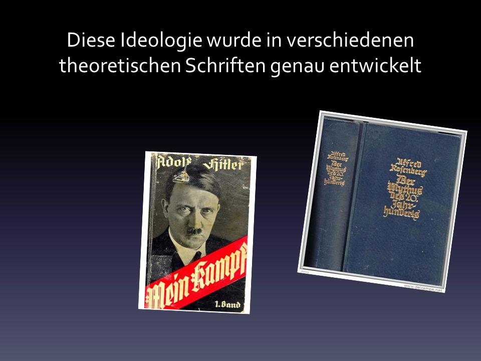 Diese Ideologie wurde in verschiedenen theoretischen Schriften genau entwickelt