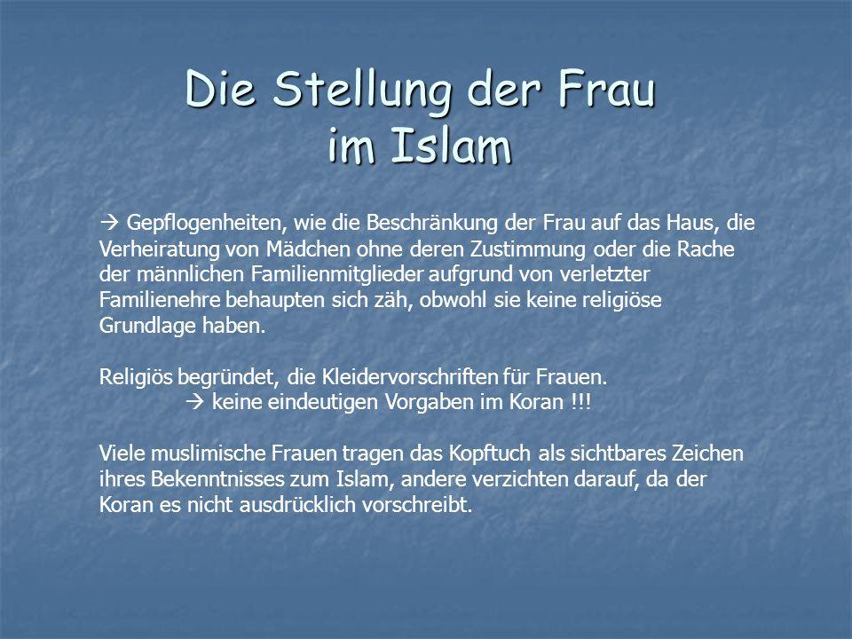 Die Stellung der Frau im Islam