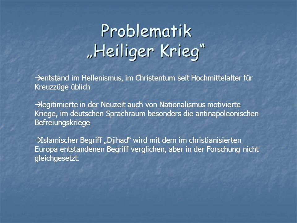 """Problematik """"Heiliger Krieg"""