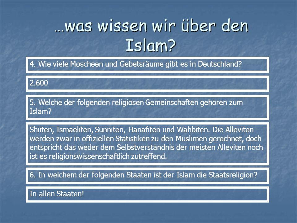 …was wissen wir über den Islam