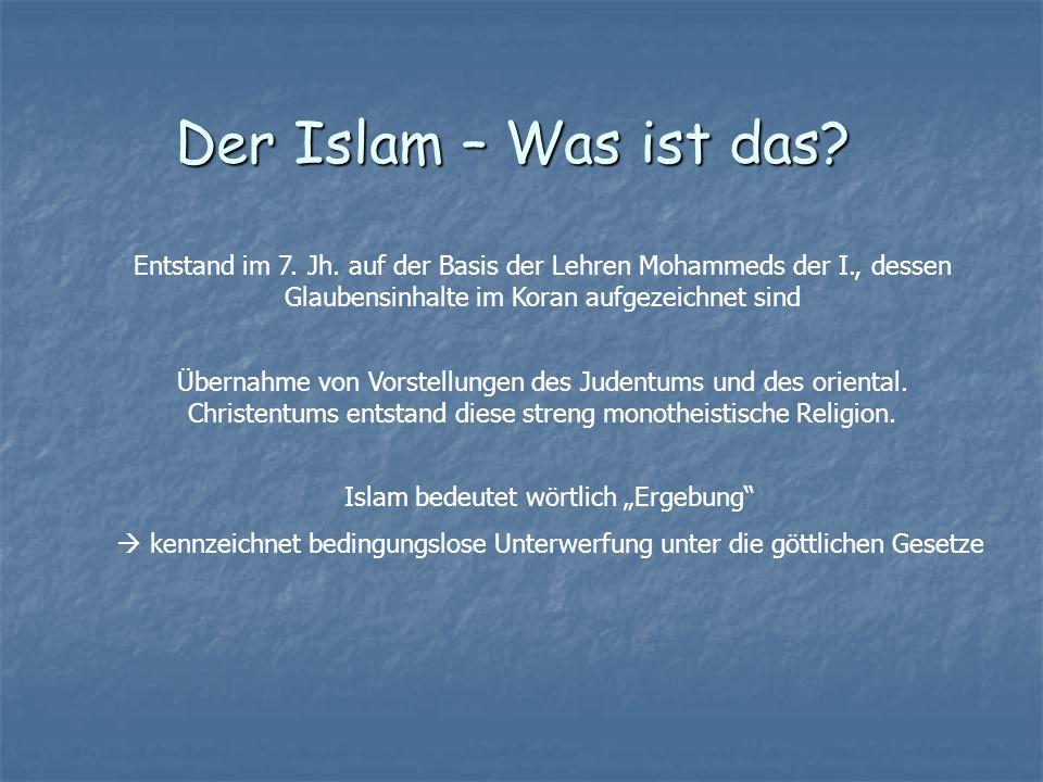 """Islam bedeutet wörtlich """"Ergebung"""