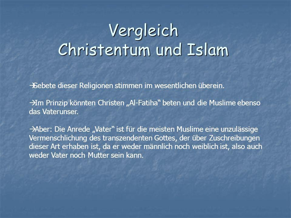 Vergleich Christentum und Islam