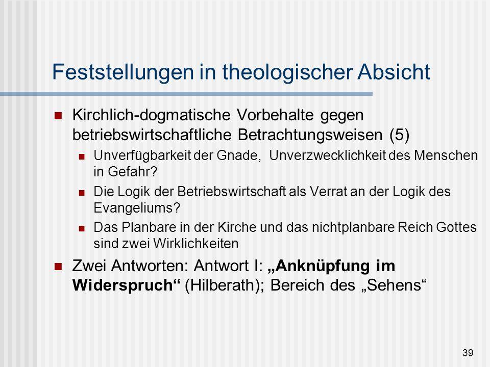 Feststellungen in theologischer Absicht