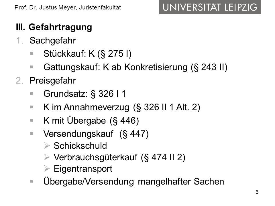 Prof. Dr. Justus Meyer, Juristenfakultät