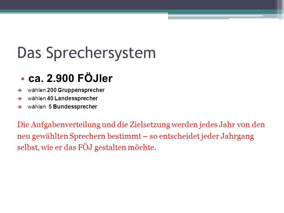 Das Sprechersystem ca. 2.900 FÖJler