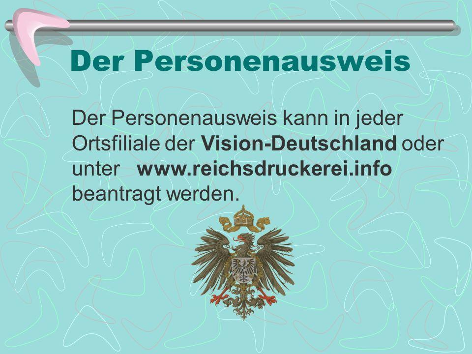 Der Personenausweis Der Personenausweis kann in jeder