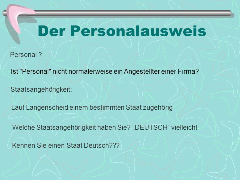 Der Personalausweis Personal