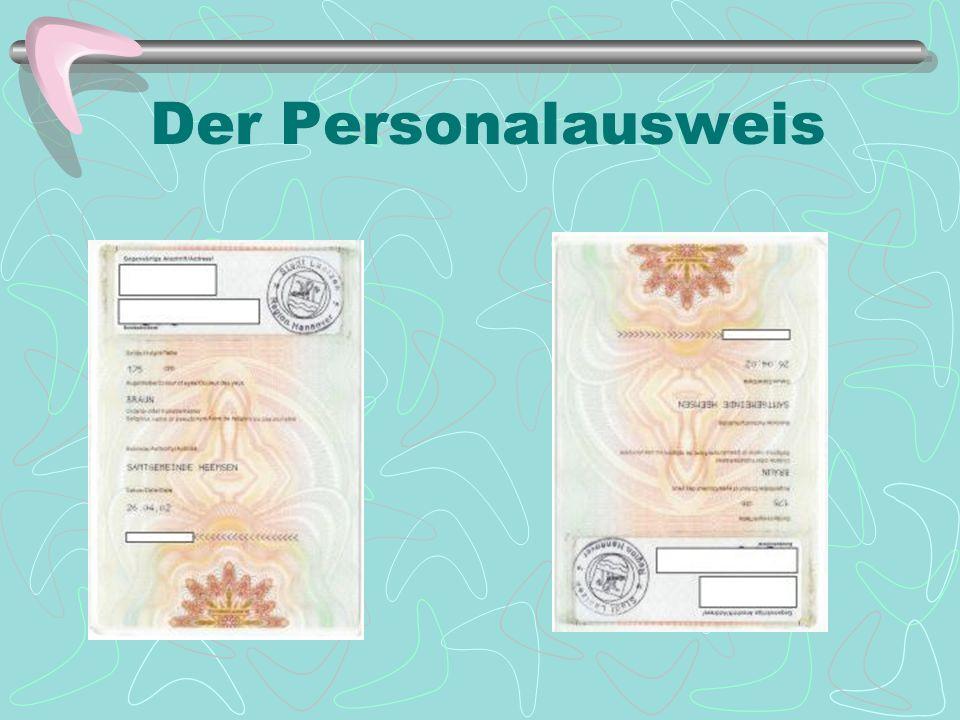 Der Personalausweis