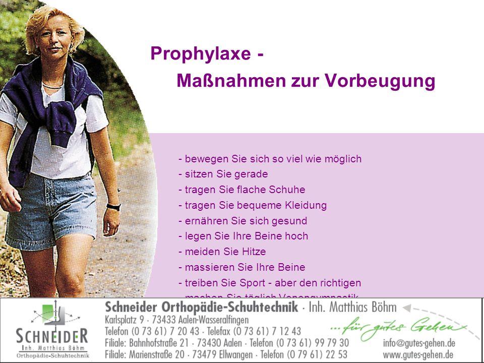 Prophylaxe - Maßnahmen zur Vorbeugung