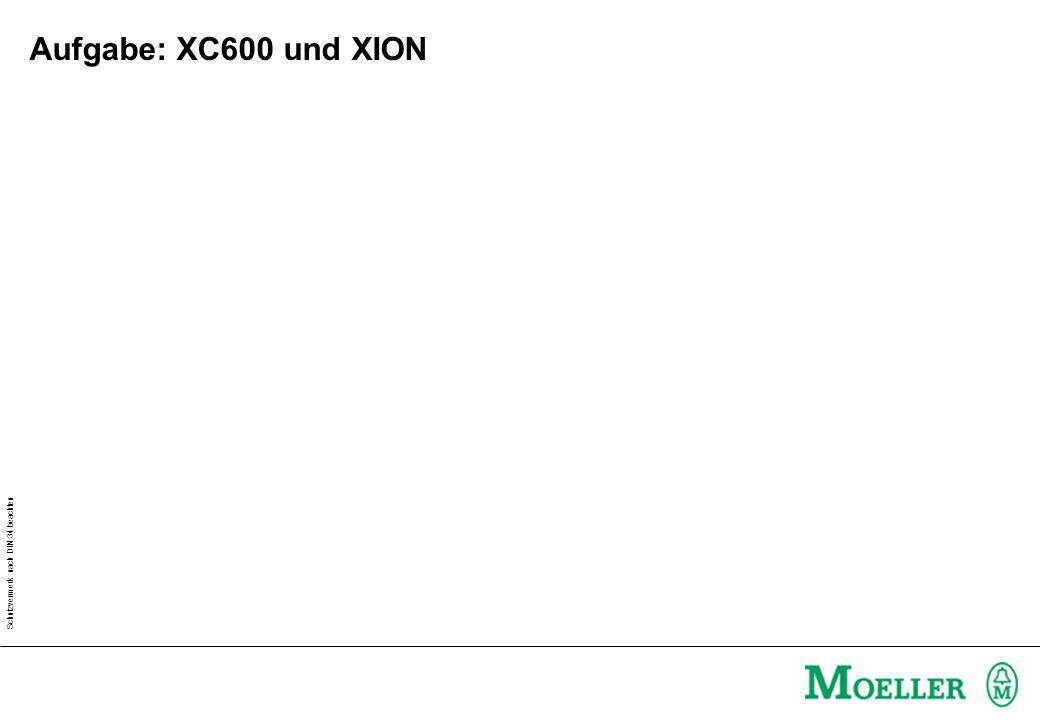 Aufgabe: XC600 und XION Arbeitsblatt A101_701