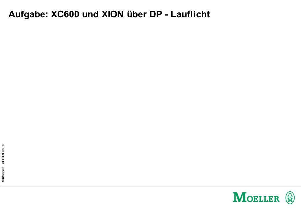 Aufgabe: XC600 und XION über DP - Lauflicht