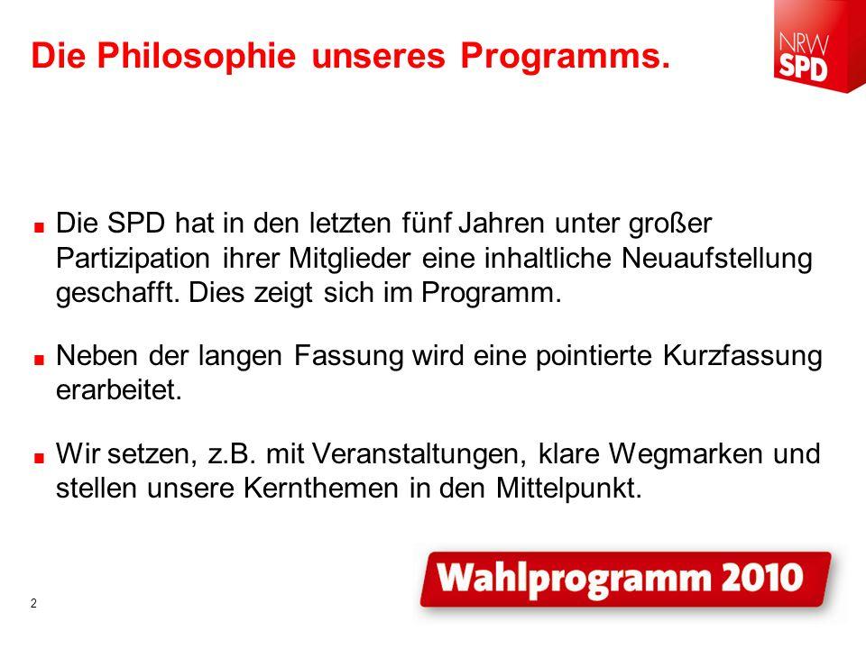 Die Philosophie unseres Programms.