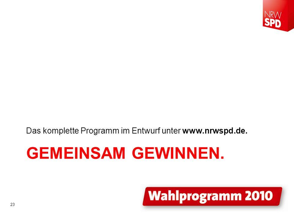 Das komplette Programm im Entwurf unter www.nrwspd.de.