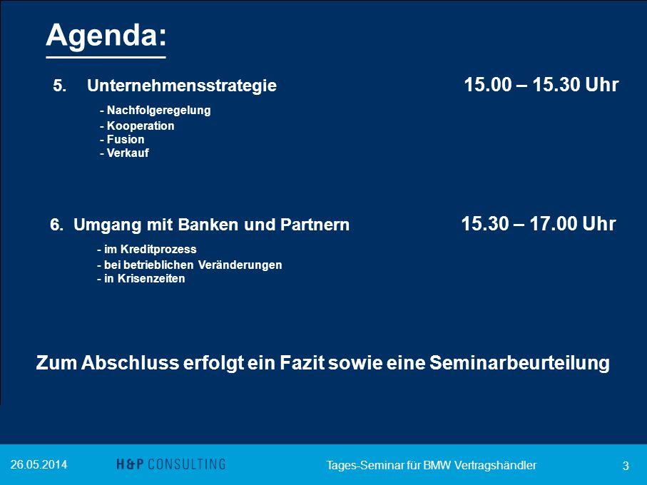 Agenda: - Nachfolgeregelung - im Kreditprozess