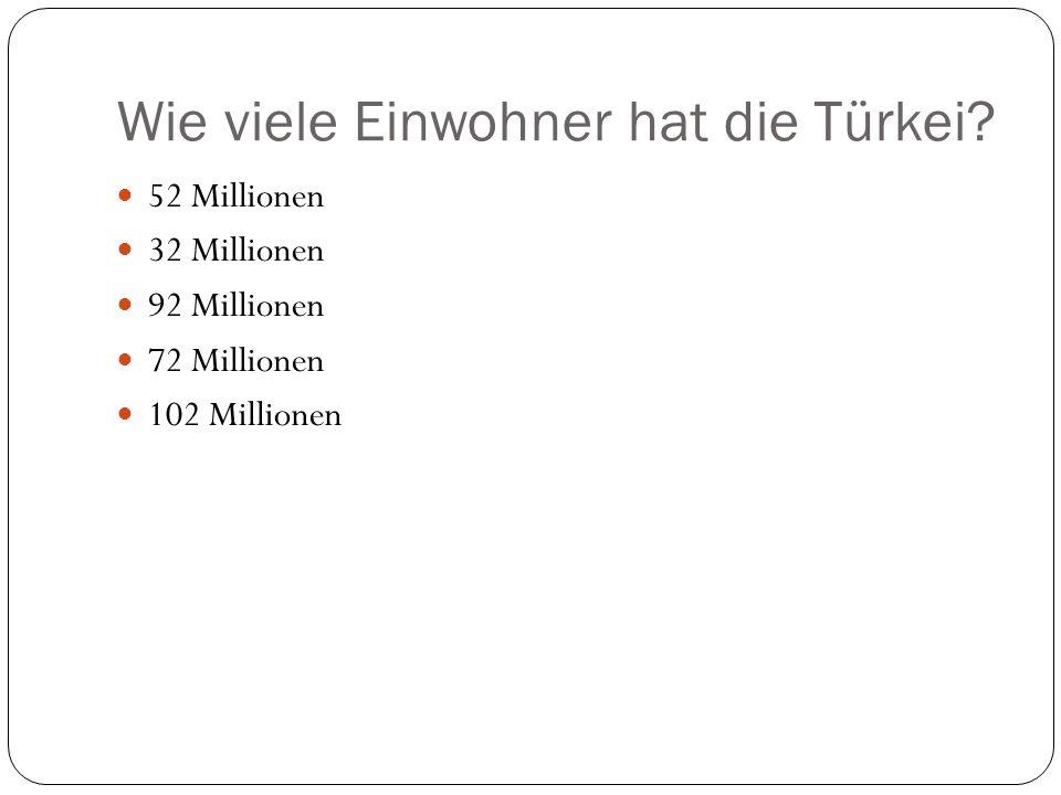 Wie viele Einwohner hat die Türkei