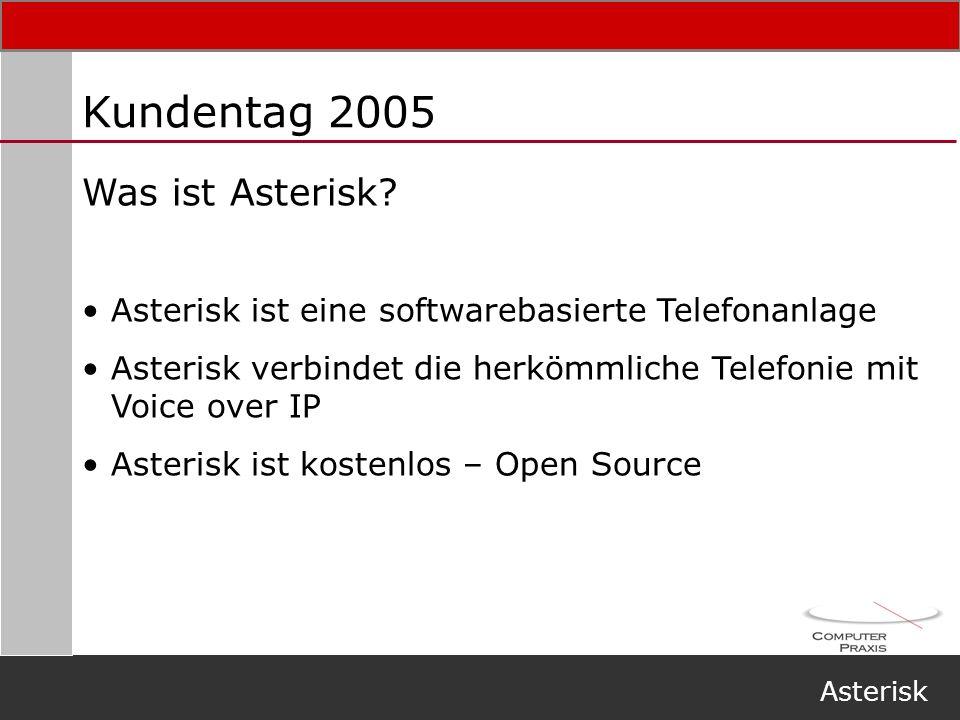 Kundentag 2005 Was ist Asterisk