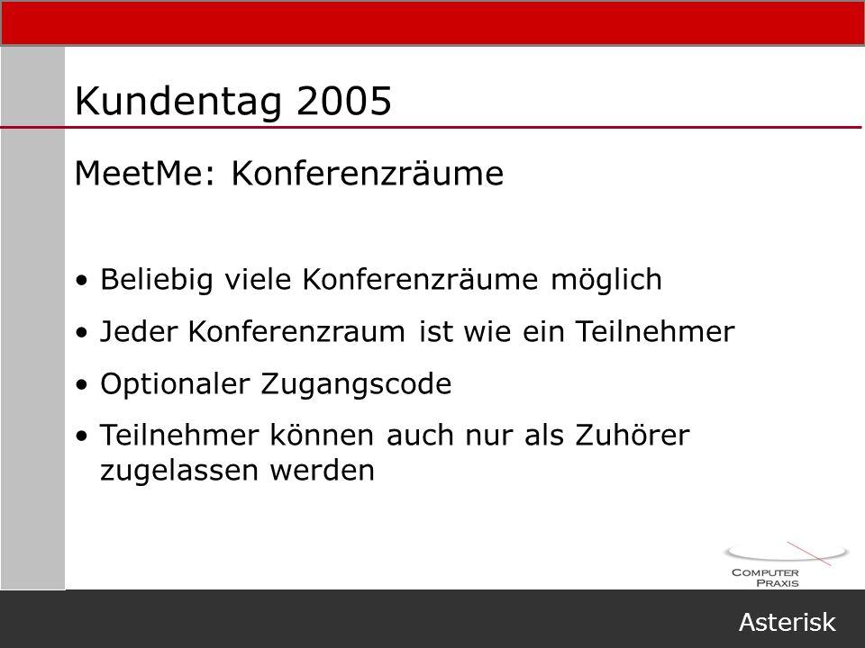 Kundentag 2005 MeetMe: Konferenzräume
