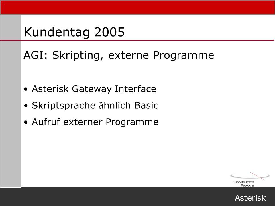 Kundentag 2005 AGI: Skripting, externe Programme