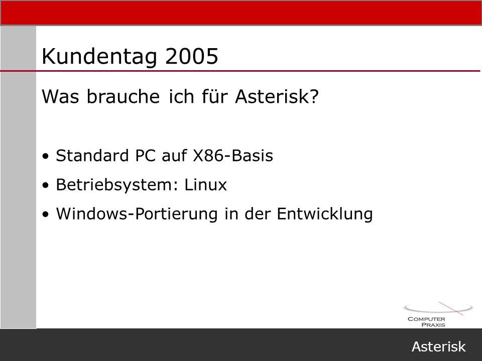 Kundentag 2005 Was brauche ich für Asterisk Standard PC auf X86-Basis