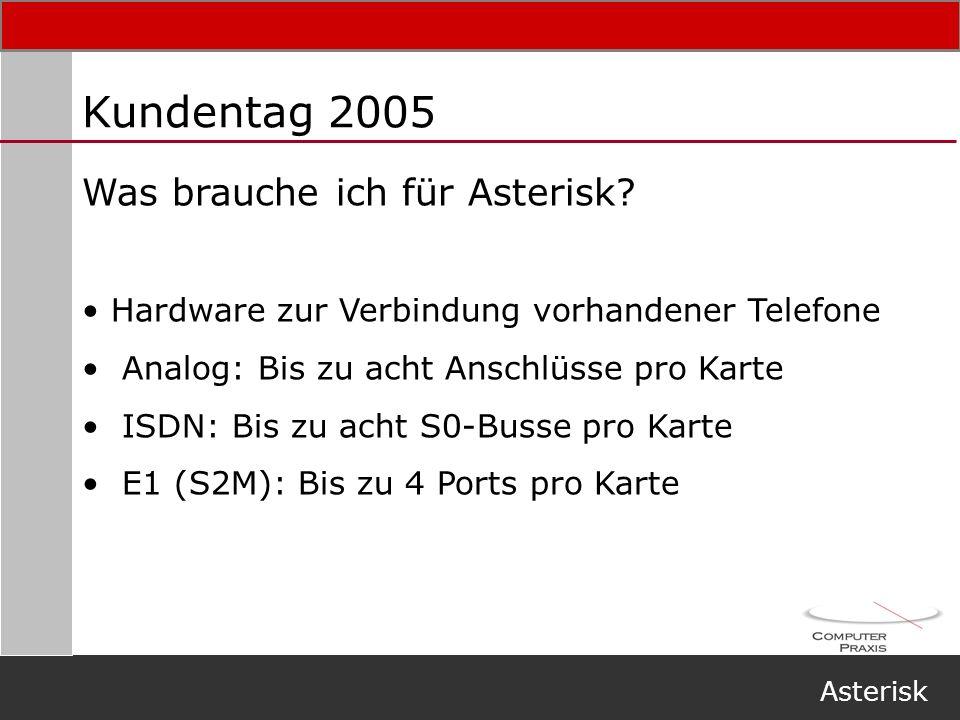 Kundentag 2005 Was brauche ich für Asterisk