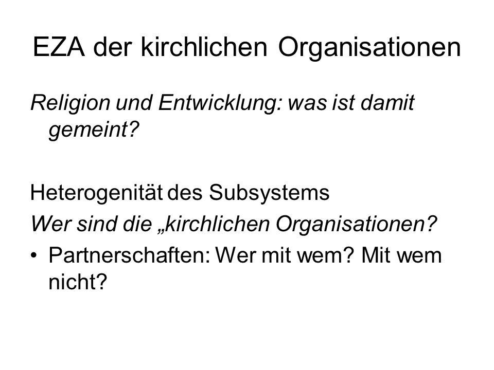 EZA der kirchlichen Organisationen