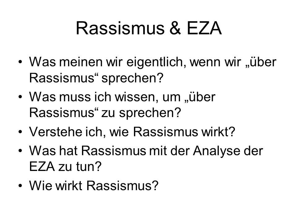 """Rassismus & EZA Was meinen wir eigentlich, wenn wir """"über Rassismus sprechen Was muss ich wissen, um """"über Rassismus zu sprechen"""