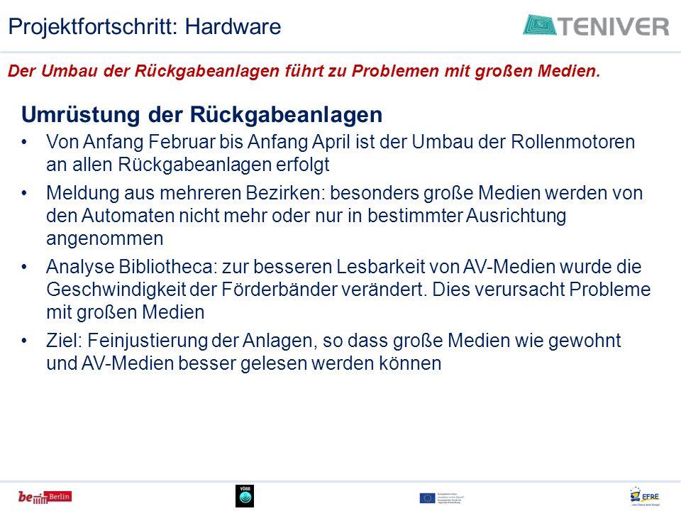 Projektfortschritt: Hardware