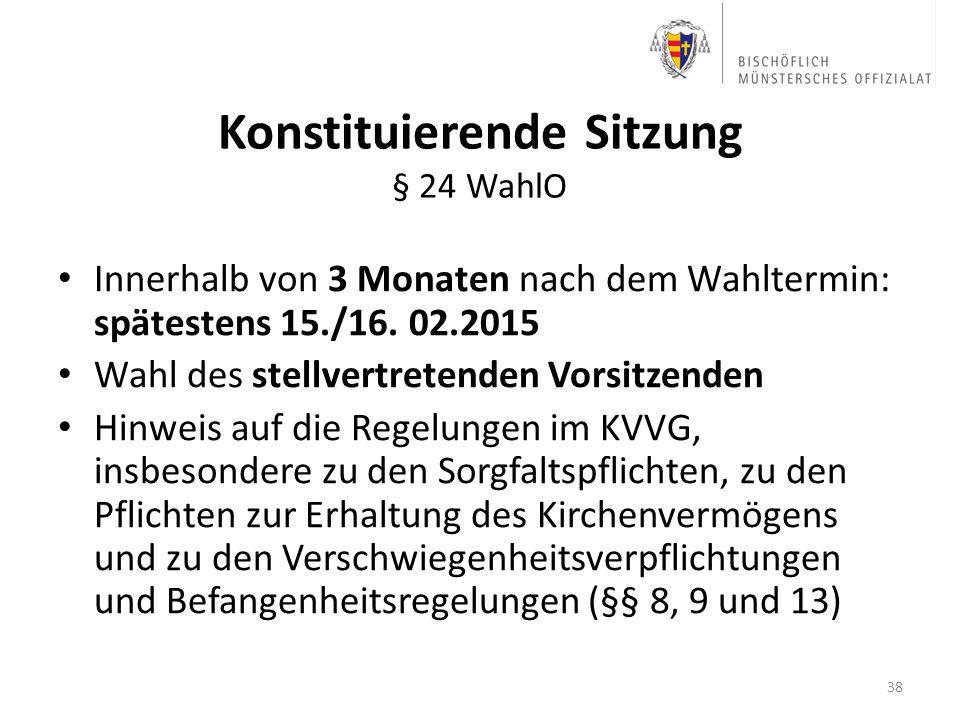Konstituierende Sitzung § 24 WahlO