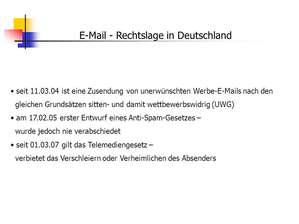 E-Mail - Rechtslage in Deutschland