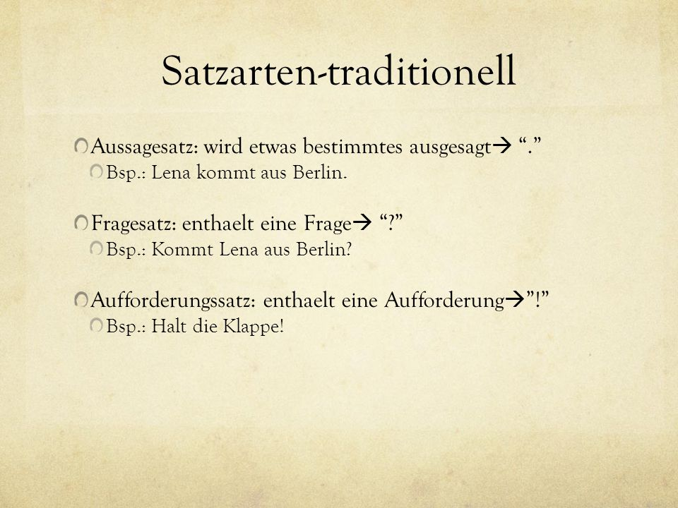 Satzarten-traditionell